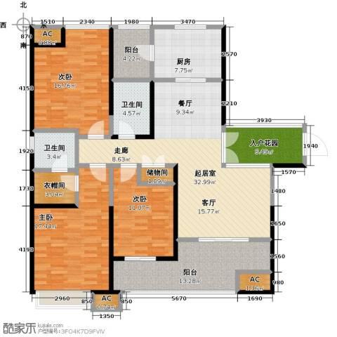 星雨华府3室0厅2卫1厨143.00㎡户型图