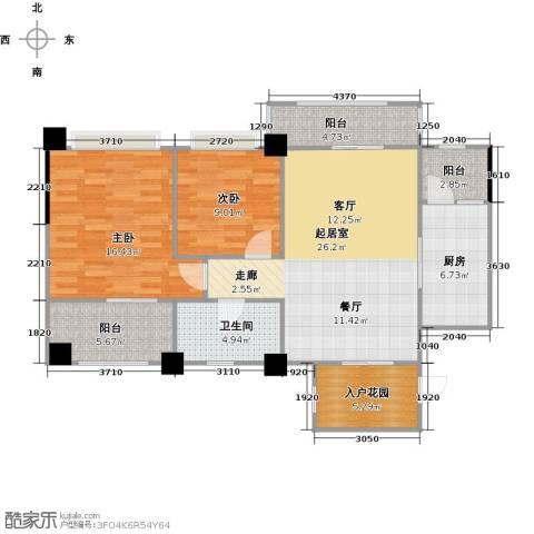 长兴99号公馆2室0厅1卫1厨91.00㎡户型图