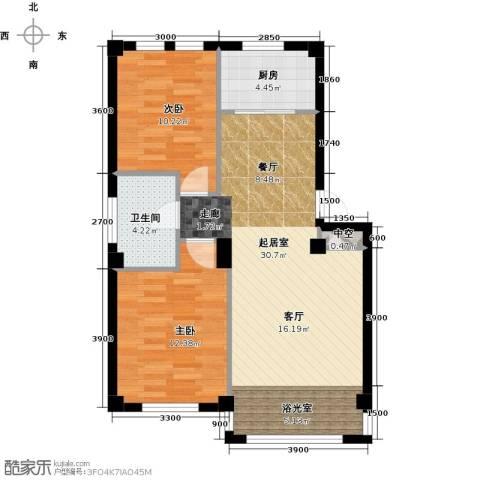 经纬壹号2室0厅1卫1厨70.06㎡户型图