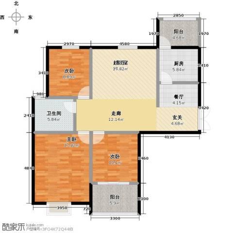 提香湾3室0厅1卫1厨132.00㎡户型图
