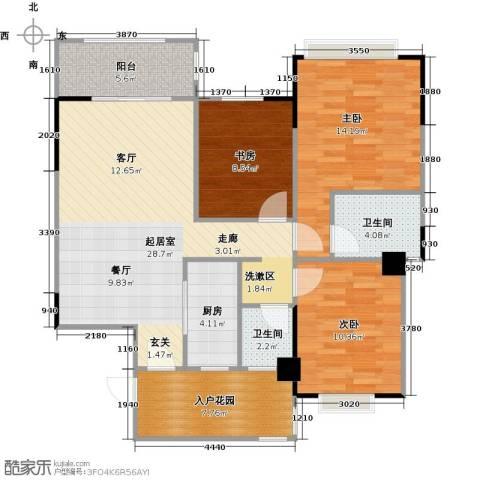 长兴99号公馆3室0厅2卫1厨102.00㎡户型图