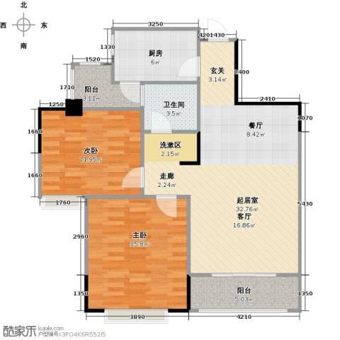 长兴99号公馆2室0厅1卫1厨83.00㎡户型图