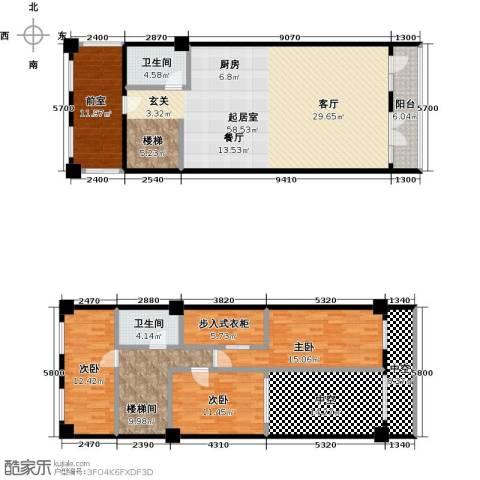 金隅朗峰3室0厅2卫0厨160.54㎡户型图