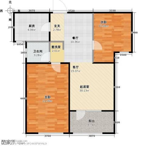 朗诗新北绿郡2室0厅1卫1厨86.00㎡户型图