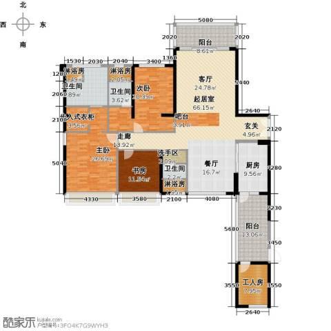 中骏天誉3室0厅3卫1厨258.00㎡户型图