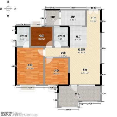 时代倾城3室0厅2卫1厨115.00㎡户型图