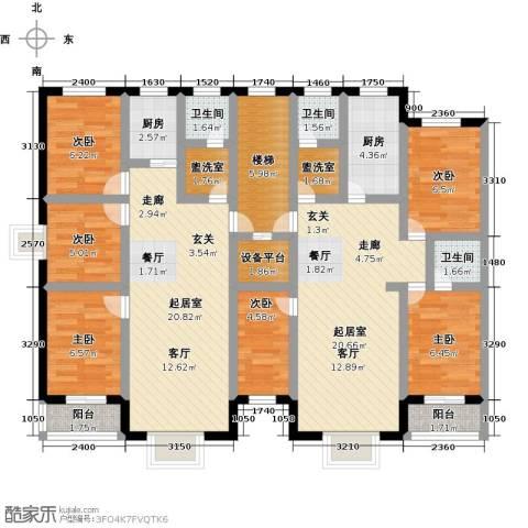 丽景花园6室0厅3卫2厨125.00㎡户型图