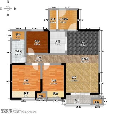 城置国际花园城3室0厅1卫1厨145.00㎡户型图