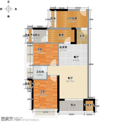 大欣城2室0厅1卫1厨84.00㎡户型图