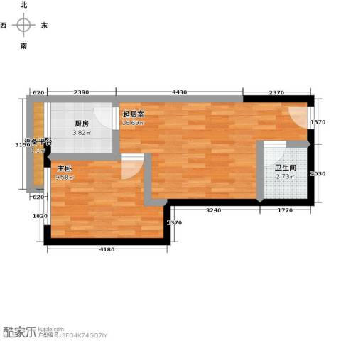 汇通大厦1室0厅1卫1厨51.00㎡户型图