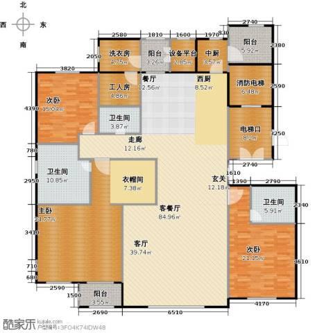 华中国宅华园3室1厅3卫0厨234.00㎡户型图
