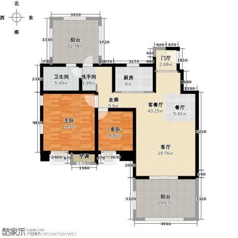中锐星尚城2室1厅1卫1厨113.62㎡户型图