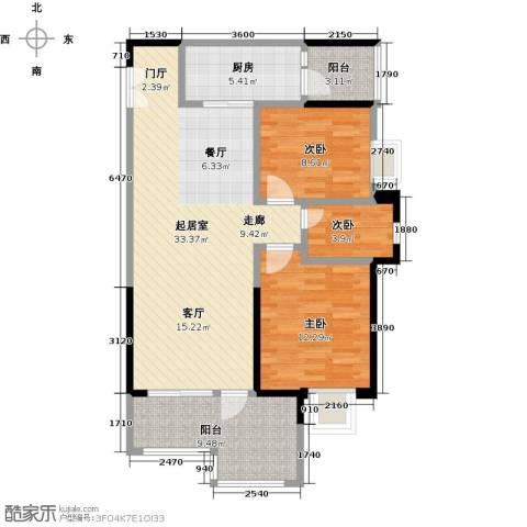 时代倾城3室0厅0卫1厨97.00㎡户型图