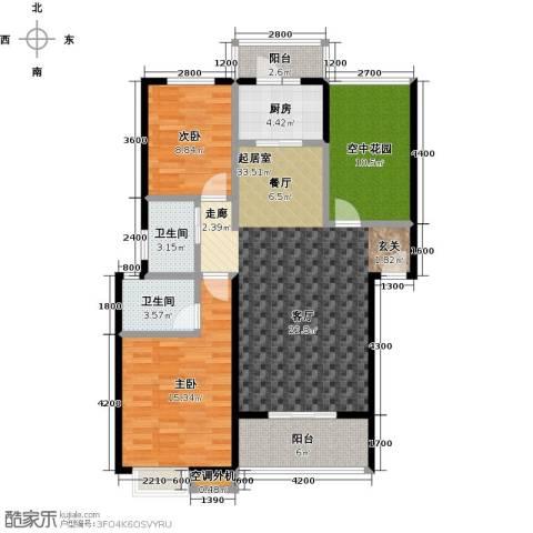 鸣宇锦程2室0厅2卫1厨126.00㎡户型图