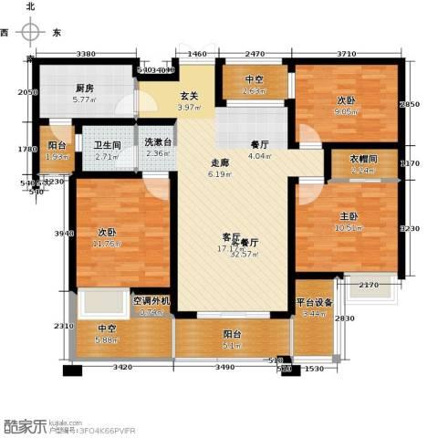 路劲翡丽湾3室1厅1卫1厨110.00㎡户型图