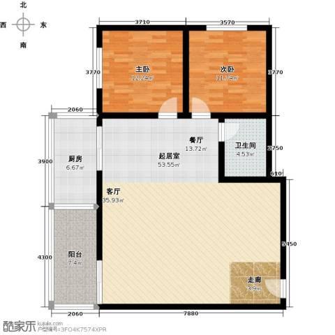 博大尚居2室0厅1卫1厨107.00㎡户型图