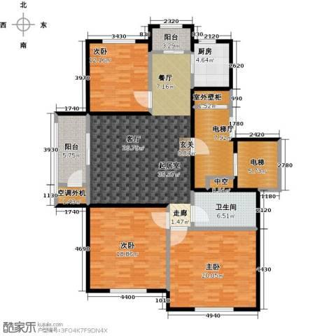领秀城3室0厅1卫1厨174.00㎡户型图
