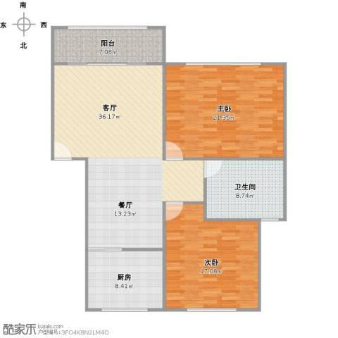 鹤林路298弄小区2室1厅1卫1厨131.00㎡户型图