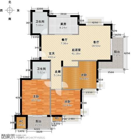 清江华府3室0厅2卫1厨165.00㎡户型图