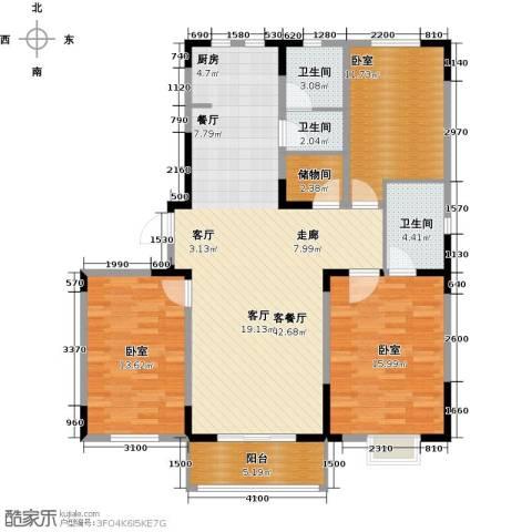 碧水庄园1厅3卫0厨141.00㎡户型图