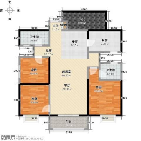 曲江观山悦3室0厅2卫1厨140.00㎡户型图