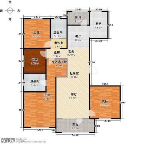 朗诗新北绿郡4室0厅2卫1厨155.00㎡户型图