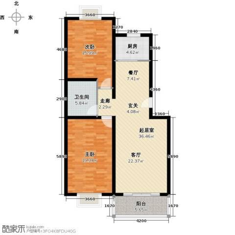 紫源京珠花园2室0厅1卫1厨99.00㎡户型图