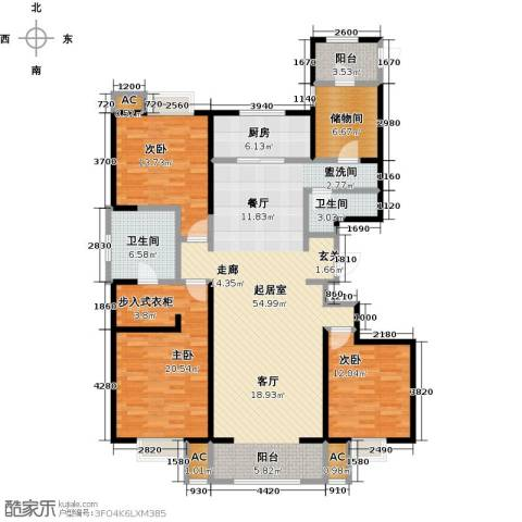 曲江观山悦3室0厅2卫1厨184.00㎡户型图
