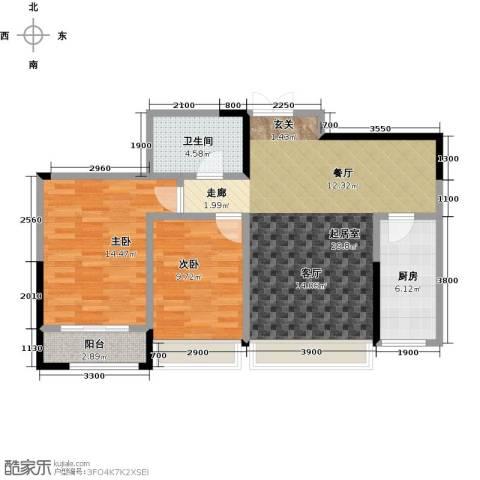 盛达国际新城2室0厅1卫1厨95.00㎡户型图