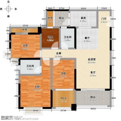 时代倾城4室0厅2卫1厨131.00㎡户型图