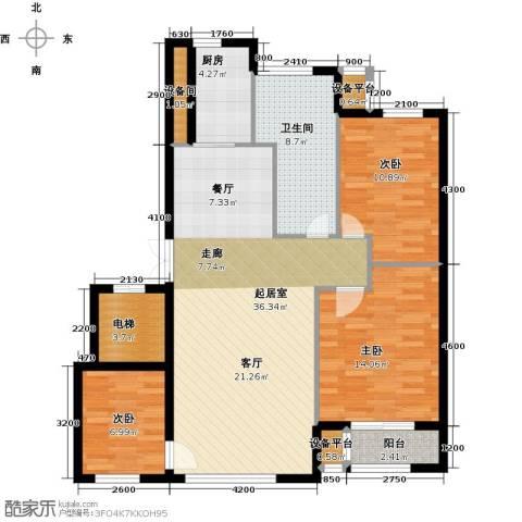 河海龙湾3室0厅1卫1厨109.00㎡户型图
