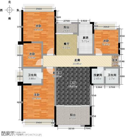 盛达国际新城4室0厅2卫1厨155.00㎡户型图