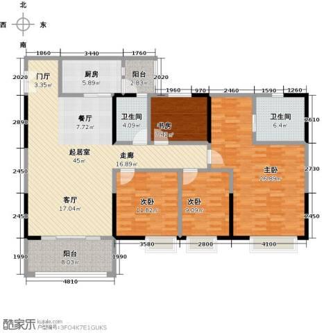 时代倾城4室0厅2卫1厨143.00㎡户型图