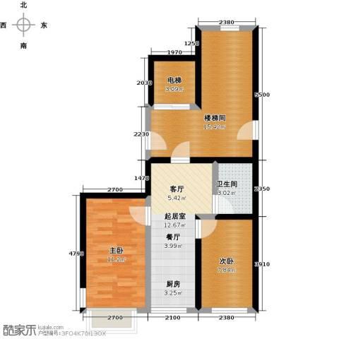 馨悦家园2室0厅1卫0厨78.00㎡户型图