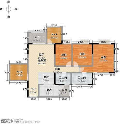时代倾城3室0厅2卫1厨126.00㎡户型图