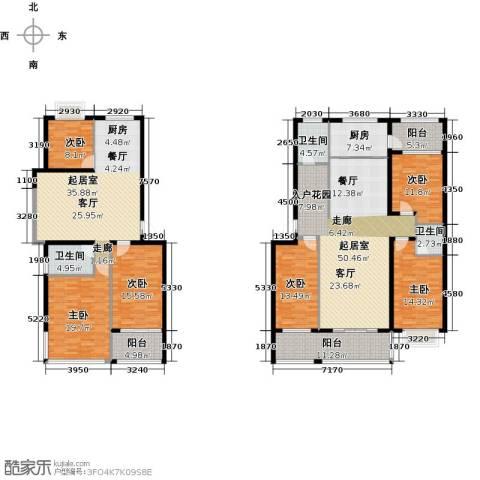 金马三区6室0厅3卫1厨294.00㎡户型图