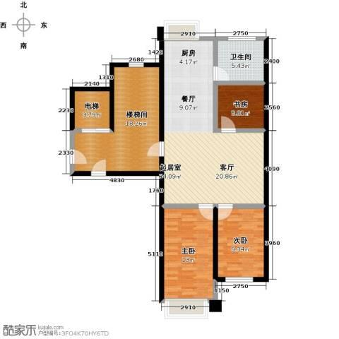 馨悦家园3室0厅1卫0厨128.00㎡户型图