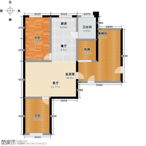 馨悦家园2室0厅1卫0厨128.00㎡户型图