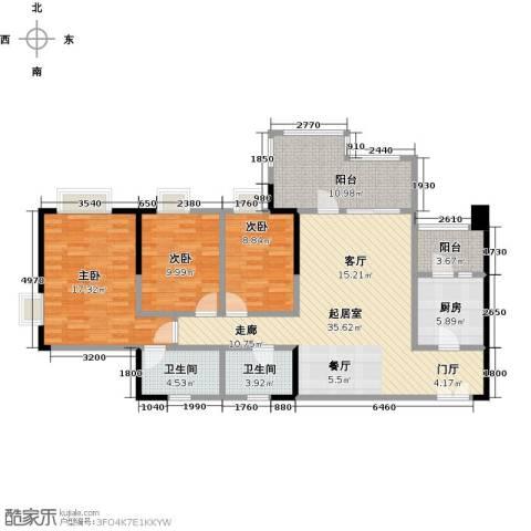 时代倾城3室0厅2卫1厨114.00㎡户型图