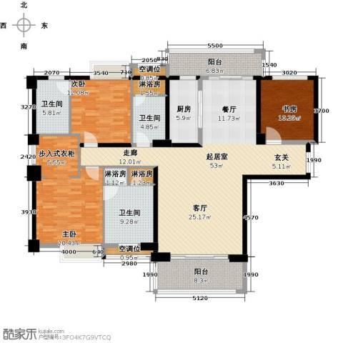 中骏天誉3室0厅3卫1厨205.00㎡户型图