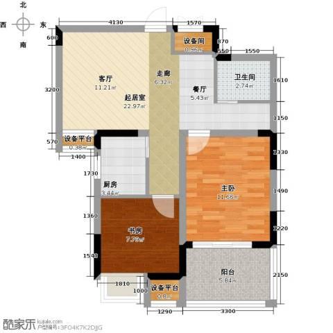 苹果乐园2室0厅1卫1厨83.00㎡户型图