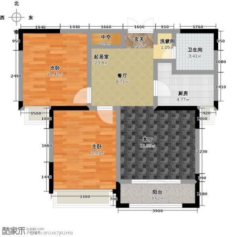 盛达国际新城2室0厅1卫1厨86.00㎡户型图