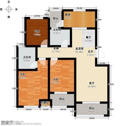 海泰绿洲3室0厅2卫1厨118.00㎡户型图