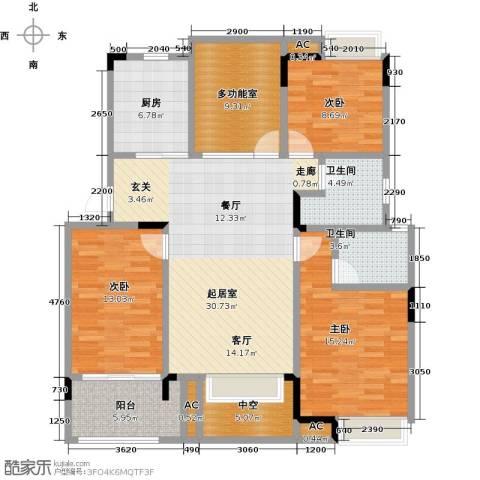 恒大晶筑城3室0厅2卫1厨111.00㎡户型图
