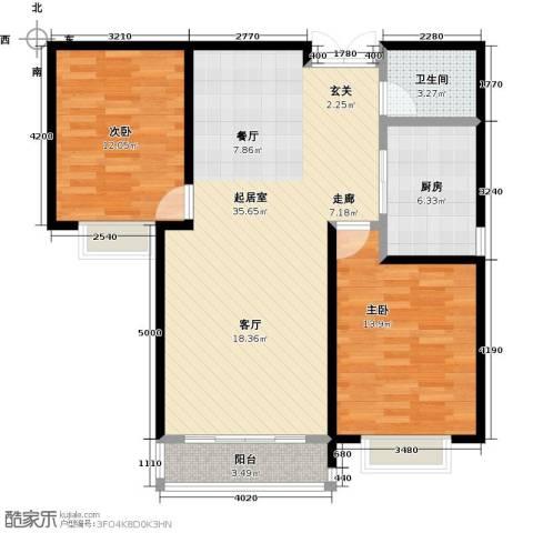 联邦・御景江山2室0厅1卫1厨104.00㎡户型图