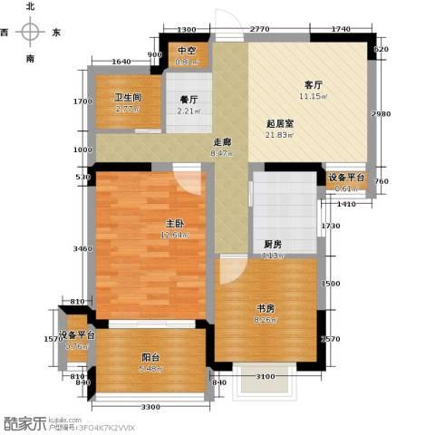 苹果乐园2室0厅1卫1厨84.00㎡户型图