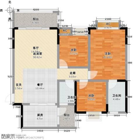 御品泰景3室0厅2卫1厨109.00㎡户型图