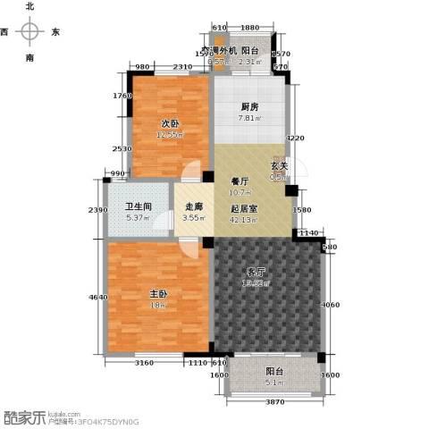御景豪庭2室0厅1卫0厨100.00㎡户型图