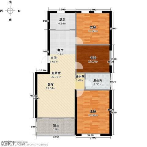 天福城3室0厅1卫1厨119.00㎡户型图