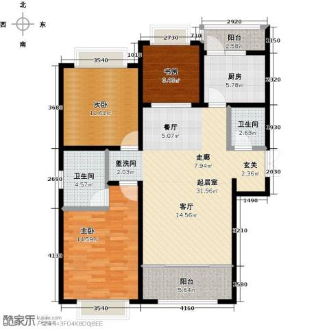 联邦・御景江山3室0厅2卫1厨126.00㎡户型图